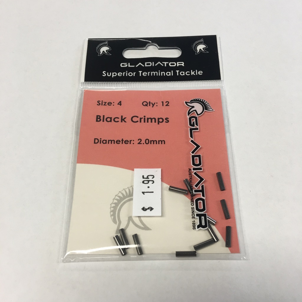 Gladiator Black Crimps Qty 12