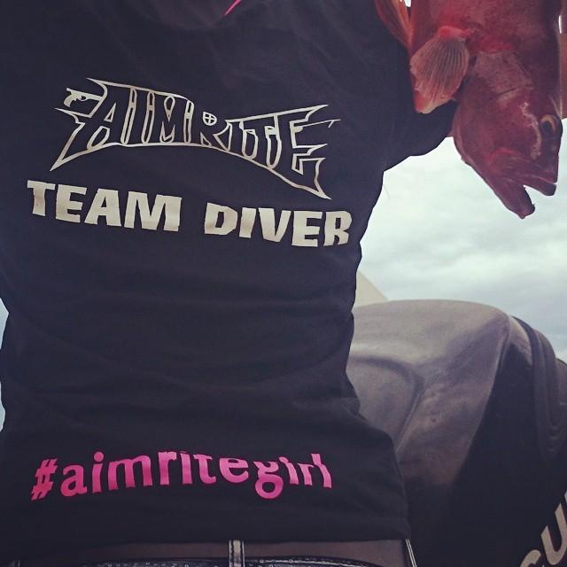 """""""Team Diver"""" T-Shirt """"aimritegirl"""""""