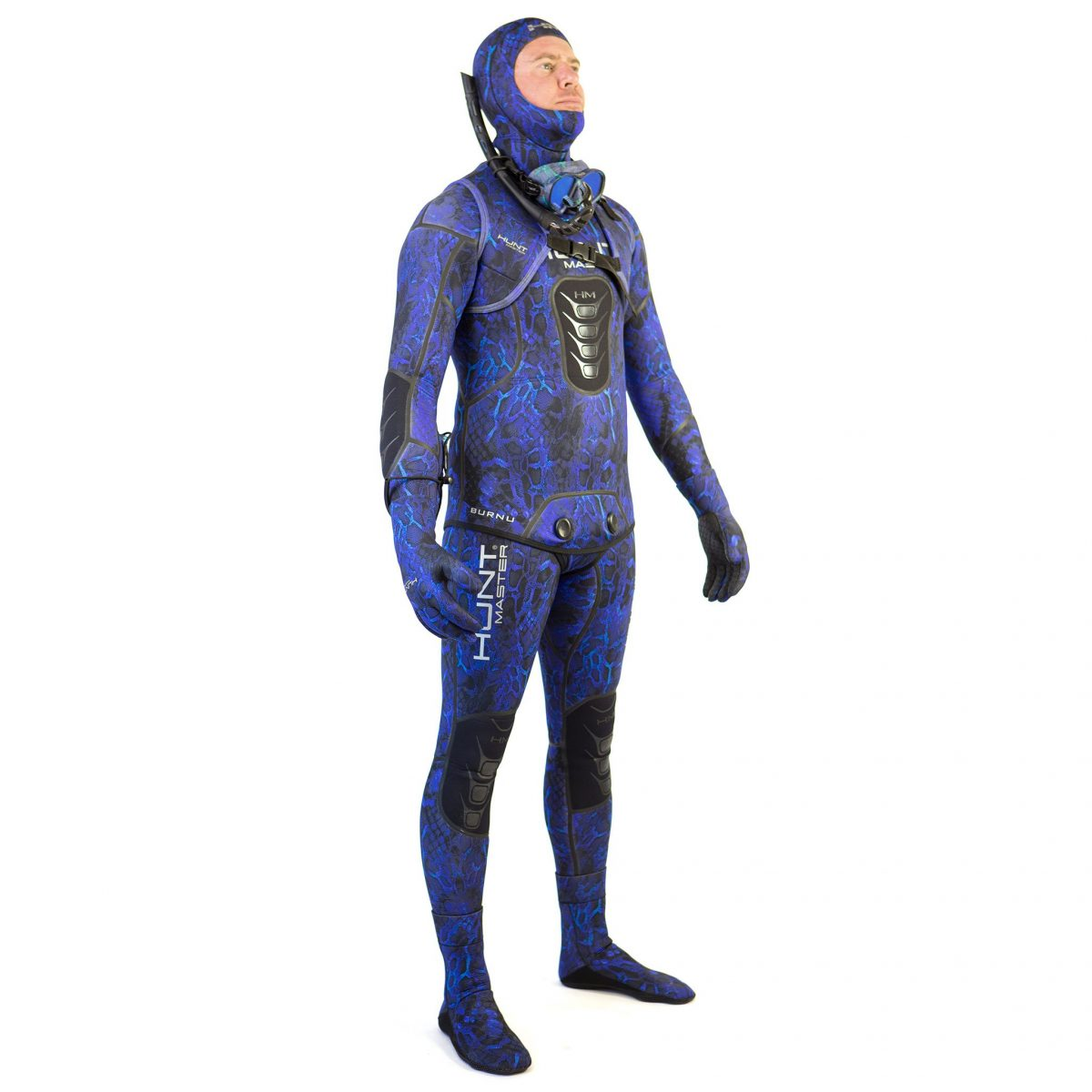 Hunstman Wetsuit Blue Camo 3.5mm- 2 Piece - Long John Pant & Hooded Top